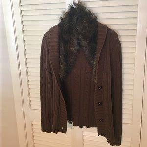 Tommy Hilfiger brown fury neck jacket 🧥 pre-loved